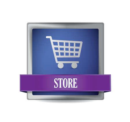 store E-commerce icon illustration design over a white Stock Vector - 20510634