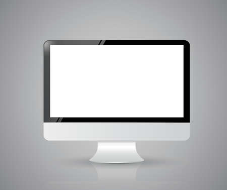 Computer screen isolated on white background. illustration design Vector
