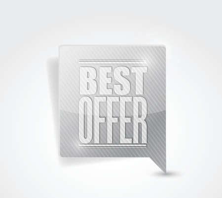 scrunch: best offer sale sign illustration design graphic