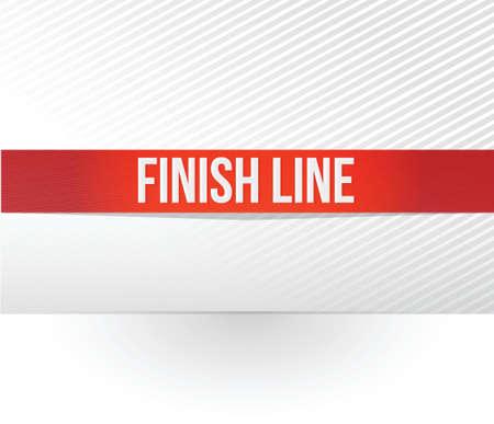 白色の背景上のフィニッシュ ライン赤テープ イラスト デザイン  イラスト・ベクター素材