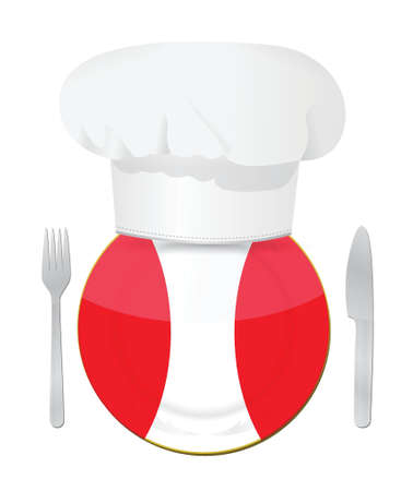 Traditional peruvian restaurant , menu illustration design over white Stock Vector - 20530476