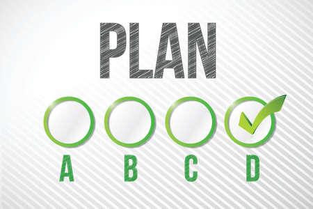choosing plan d illustration design over a white paper background Stock Vector - 20530709