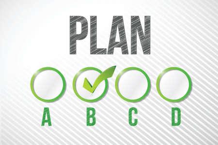 choosing plan b illustration design over a white paper background Stock Vector - 20530695
