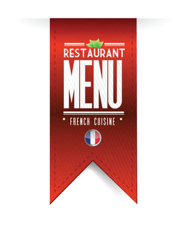 french restaurant texture banner illustration over white