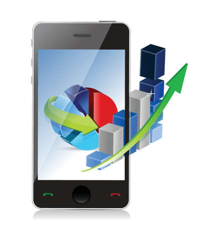 Modern Technology Business Concept phone illustration design Stock Vector - 20530583
