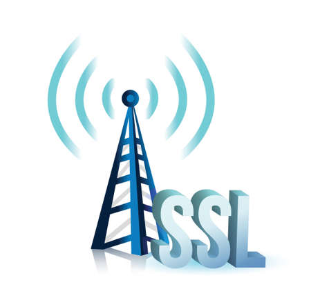 3g: ssl tower wifi illustration design over a white background Illustration