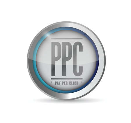 advertiser: pay per click button illustration design graphic