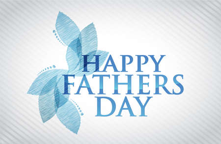 fathers day background: happy fathers day card illustration design graphic