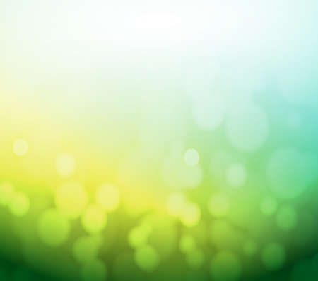 green and yellow bokeh abstract light background. illustration design illustration