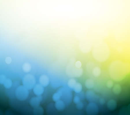 blue and yellow bokeh abstract light background. illustration design illustration