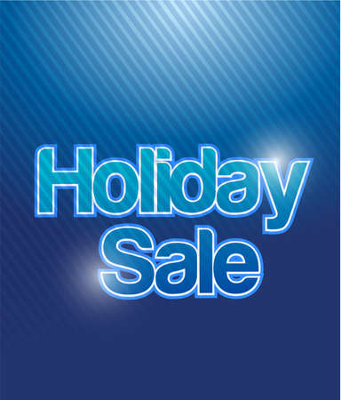 procent: blue holiday sale banner illustration design graphic