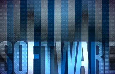 torrent: software Technology background blue binary illustration design Stock Photo