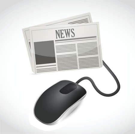 Web news concept illustration design over white Stock Vector - 20609800