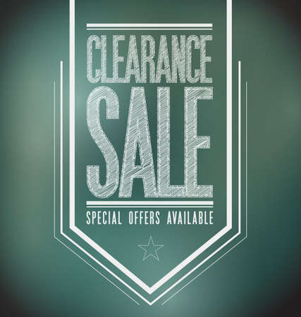 chalkboard clearance sale poster sign banner illustration design illustration