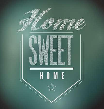 chalkboard Vintage Home Sweet Home Sign poster illustration Stock Illustration - 20606520