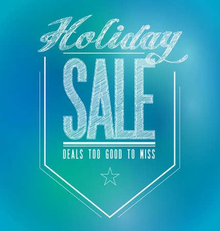 blue and green holiday sale poster sign banner illustration design illustration