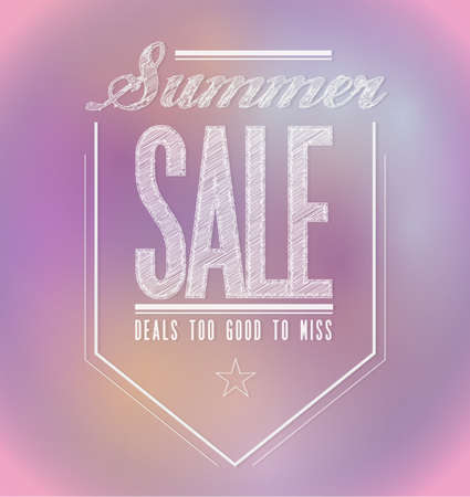 pinks: pinks summer sale poster sign banner illustration design
