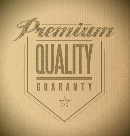 premium quality seal banner illustration design over a cardboard texture illustration