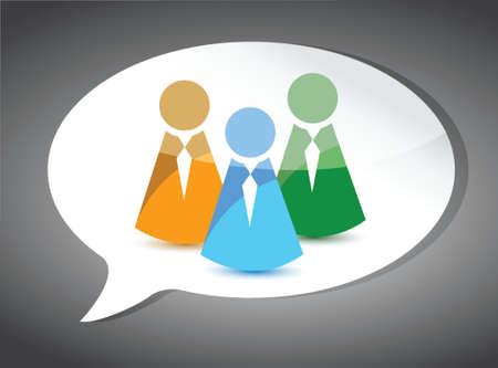 business team On Speech Bubble. illustration design Vector