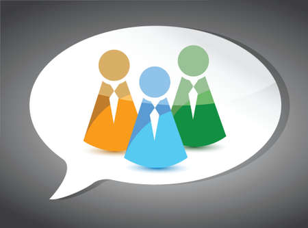 speech bubble: business team On Speech Bubble. illustration design Illustration