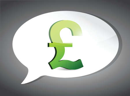 british pound: british pound On Speech Bubble illustration design graphic