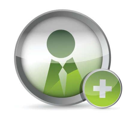 worldwideweb: Add a Friend icon illustration design over a white background Illustration