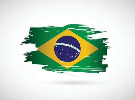 brazilian flag: Brazil. Brazilian flag on white background. illustration design