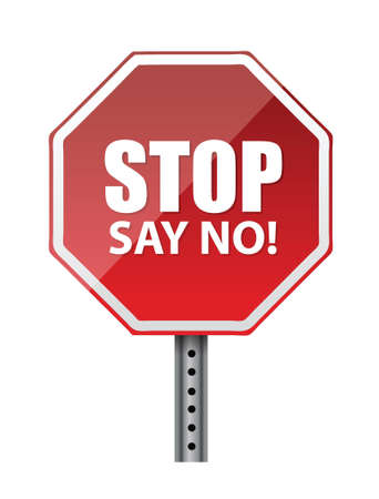stop, say no. illustration design over a white background 일러스트
