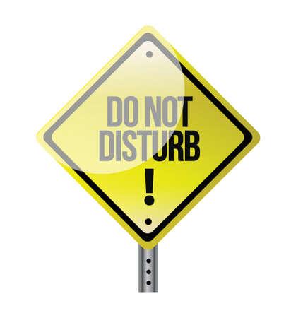 do not disturb sign illustration design over white Vector