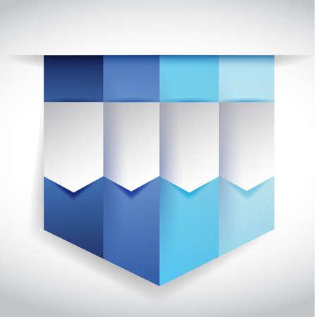 set of blue banners illustration design over white Stock Photo