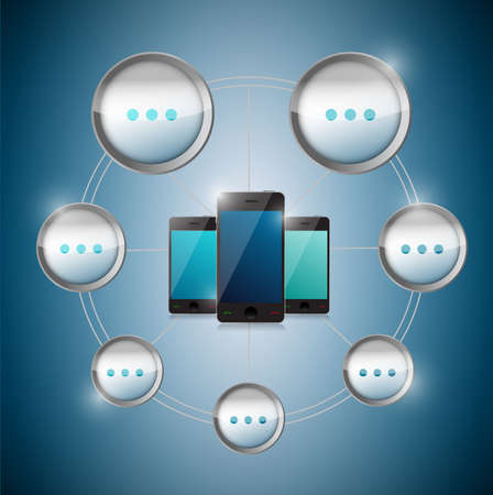 smart phone cycle cloud computing. illustration design Stock Illustration - 20662397