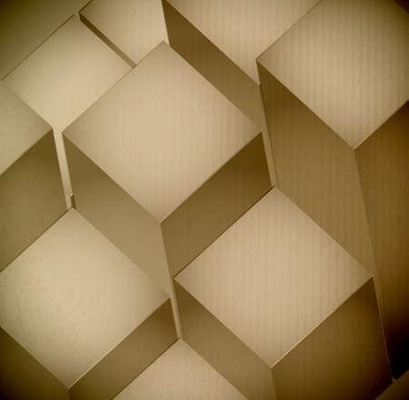 3d levels Cardboard Texture illustration design graphic