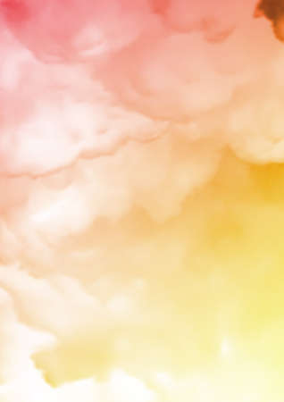 color tone: red and yellow Fog and clouds texture illustration design