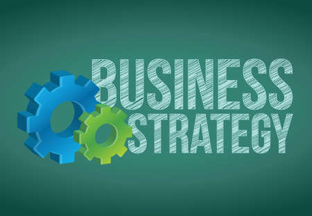 Business Strategy handwritten with white chalk on a chalkboard Stock Vector - 20760757
