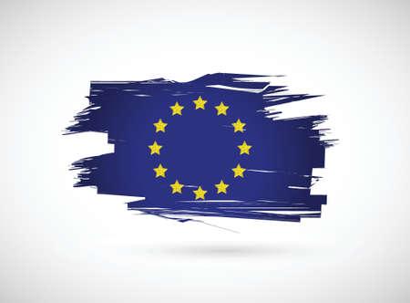european ink flag illustration design on white background