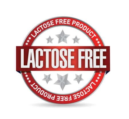 allergen: lactose free food seal illustration design over white