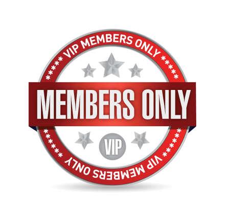 メンバーのみです。白で VIP シール イラスト デザイン  イラスト・ベクター素材