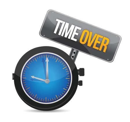 timepiece: time over concept illustration design over white Illustration