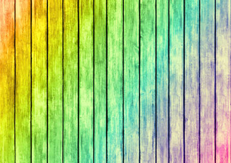 rainbow color wood panels design texture surface background Stock Photo - 20760694