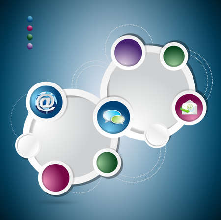 communication concept: communication circle colorloop business, template illustration design graphic Stock Photo