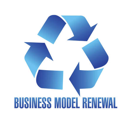 business model renewal illustration design over white