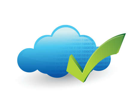 cloud computing and check mark illustration design Stock Vector - 20760678