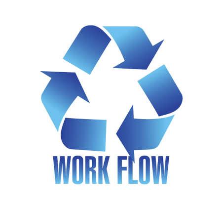 workflow: symbole de workflow conception d'illustration sur un fond blanc Illustration