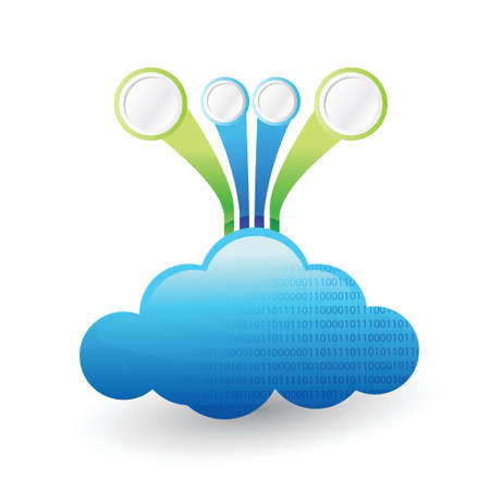 wireless: cloud computing Infographic template illustration design isolated over white