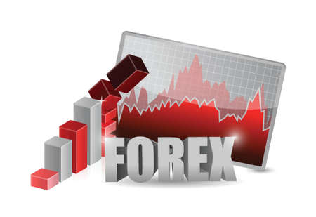 forex business falling illustration concept design over white Vector