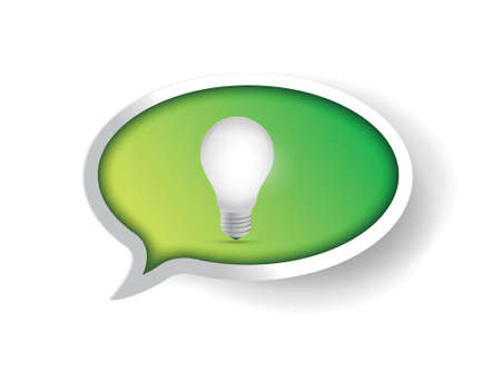 green idea message speech bubble illustration design Stock Vector - 20760574