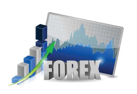 financial figures: Bar graphs, diagrams, financial figures. Forex. illustration design over white