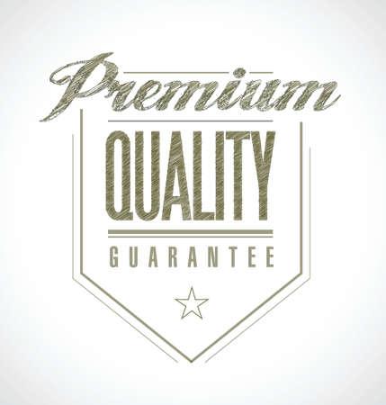 premium quality seal banner illustration design over white Illusztráció