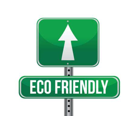 Eco-Friendly Sign illustration design Isolated on White Background