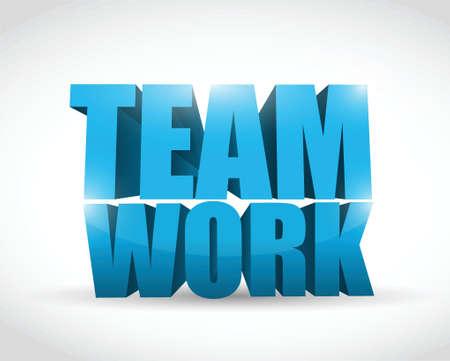 3d text teamwork concept illustration design over white Stock Vector - 20760545